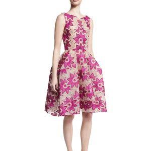 Zac Posen Floral Fit & Flare Cocktail Formal Dress